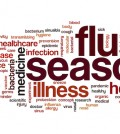 Flu season word cloud concept