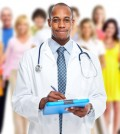 Medical doctor and people group. Health care background.